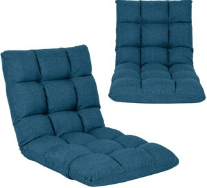 Adjustable Floor Chair with Back Support Folding Floor Sofa Lounge Chair