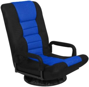 Swivel Gaming Floor Chair with Arms Back Support Adjustable Floor Sofa